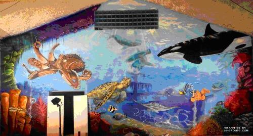 Grafiti de Chaco y Berok en Barcelona