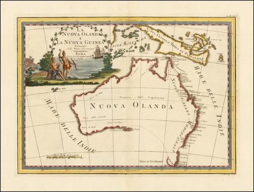 Australia, Cassini, 1798.