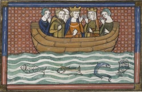 Ricardo y su mujer, doña Berenguela, la hija del rey de Navarra