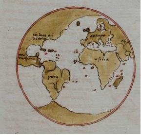 Dibujo del mundo conocido, de Pedro Nunes.