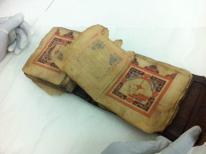 Dalail'hayrat copiado en Marruecos en 1484. Este Manuscrito lleva 78 notas del Principe Mahmud Kati, hijo del toledano Ali b. Ziyad al-Quti