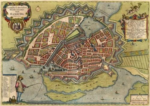 Hamburgo a mita del siglo XVII