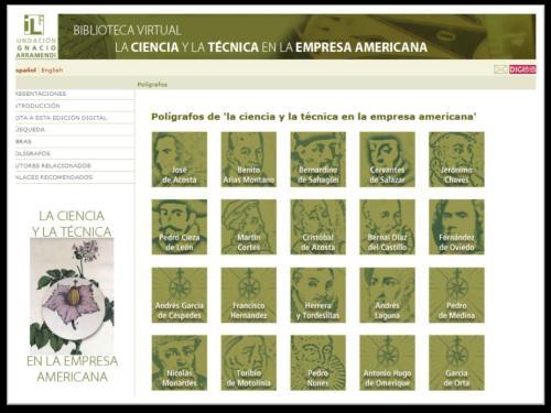 Polígrafos de la Biblioteca Virtual de la Ciencia y la Técnica en la empresa americana