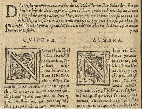 Catecismo trilingüe: español, quechua y aymara