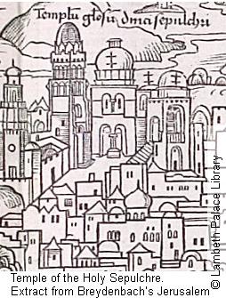 Antigua imagen del Santo Sepulcro de Jerusalen
