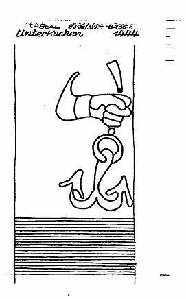 Ancla con mano. Unterkochen, 1444. Fuente: http://www.piccard-online.de/detailansicht.php?klassi=006.001.003.002&ordnr=118804&sprache=en