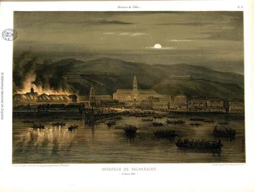 incendio de Valparaiso