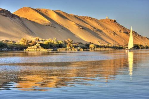 Una imagen actual del milenario río