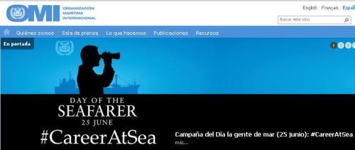 Página principal de la Organización Marítima internacional