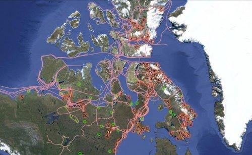 Rutas de los pueblos inuit. Fuente