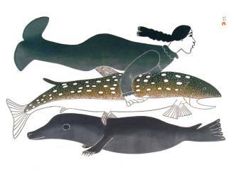 Sedna según el artista Kakulu Sagiatok