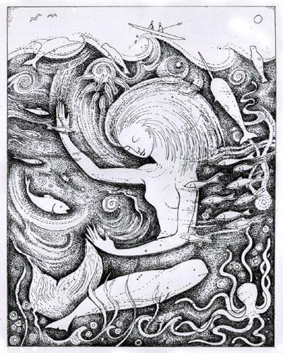 Dibujo de Sedna. Fuente