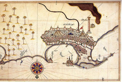Alejandría según el mapa de Piri Reis