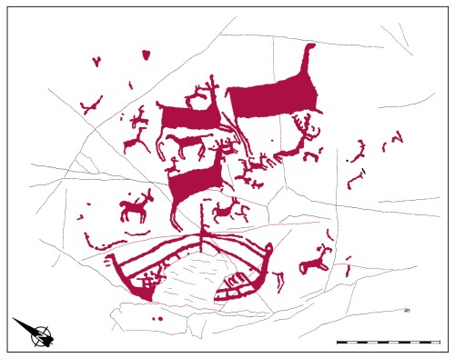 Un dibujo de la representación del patroglifo