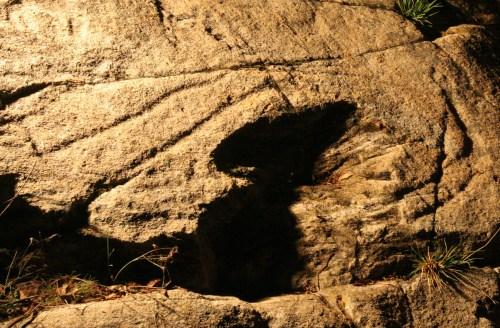 Situación actual del petroglifo