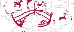 El barco representado (detalle del la imagen del petroglifo)