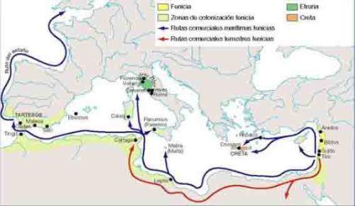 Rutas comerciales en la Edad del Bronce