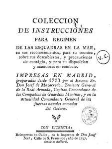 Colección de instrucciones recopiladas por Mazarredo