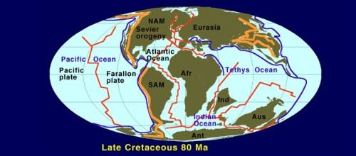 Cretácico, hace 80 millones de años. Fuente.