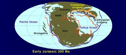Jurásico, hace unos 200 millones de años. Fuente