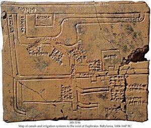 Canales de irrigación del río Eúfrates. Época babilónica. II milenio a. C.