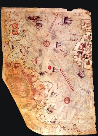 El mapa que hizo famoso a Piri Reis