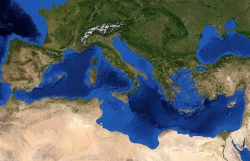 Una imagen reciente del Mar Mediterráneo, recogida vía satélite.