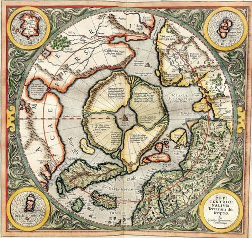 El Ártico según Mercator (1595)