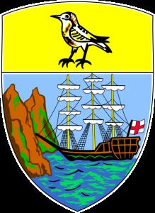 Escudo de la Isla de Santa Helena, en el Atlántico