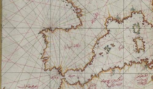 La Península Ibérica en el mapa del almirante turco