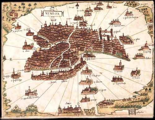 Precioso mapa de Venecia