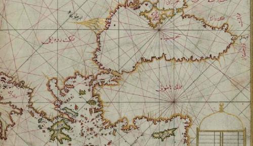 Una parte del Mediterráneo oriental, incluyendo la patria de Piri Reis