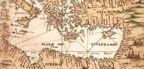 Precioso mapa de la parte oriental del Mediterrráneo