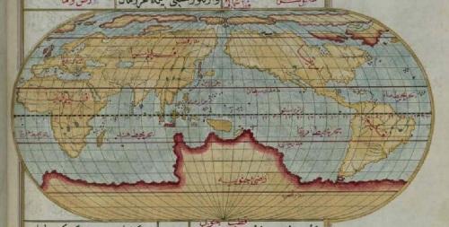 Uno de los mapas del mundo que se incluyen en esta obra