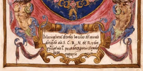 Detalle de la portada en la que aparece como autor García de Céspedes en lugar de Santa Cruz