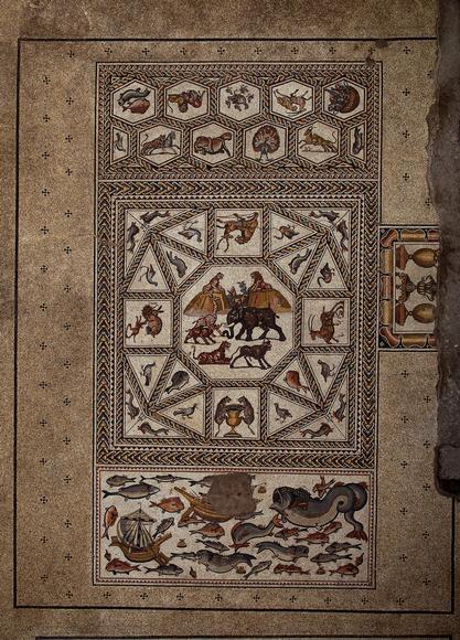 El primer mosaico descubierto. Vista general