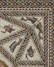 Detalle del mosaico central