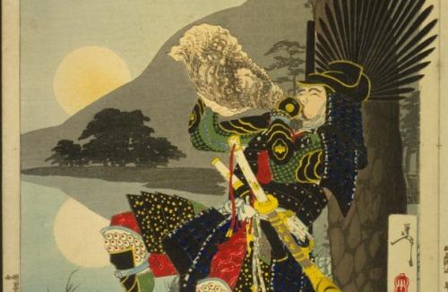 La luna en el monte Shizu - Hideyoshi
