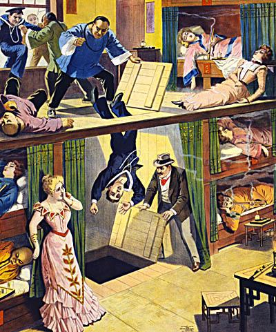 Caricatura de la práctica del secuestro. Fuente