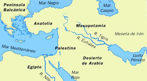 Los ríos Tigris y Eufrates. Fuente