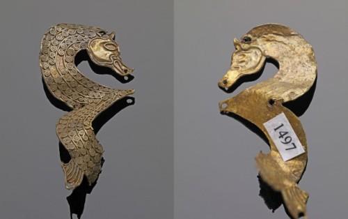 Parte anterior y posterior de la pieza