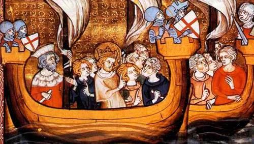 San Luis partiendo a las cruzadas