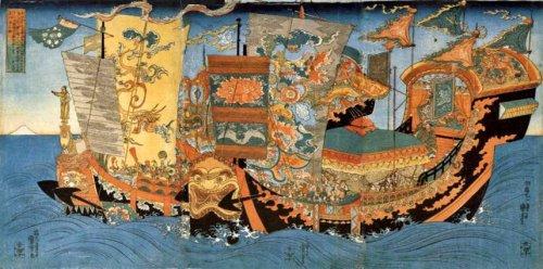 La expedición en busca de la medicina de la inmortalidad Autor: Utagawa Kuniyoshi (c. 1839-1841. Fuente