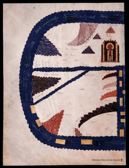 Una de las primeras ilustraciones en las que aparece el mar. Beato de los reyes..