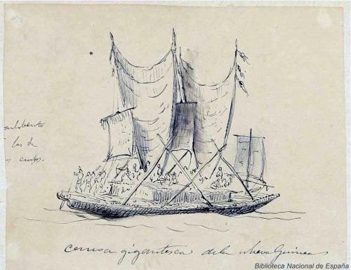 Canoa de Nueva Guinea