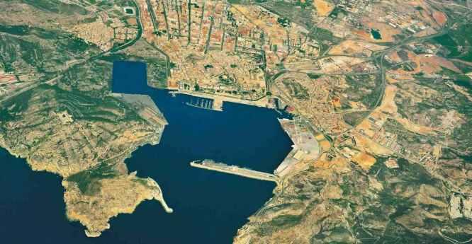 Vista aerea del puerto