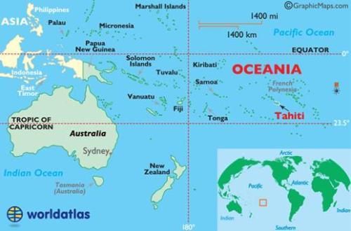 Localización geográfica de Tahití