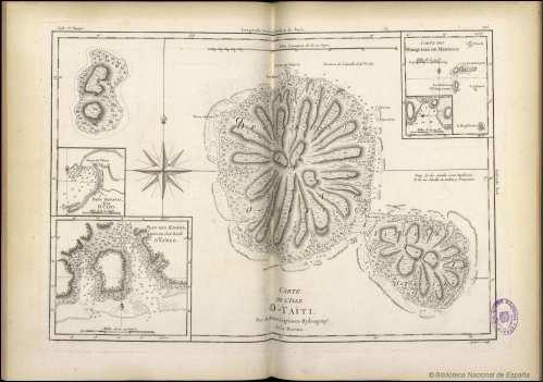 Carta náutica de Haití en un atlas francrd frl S XVIII