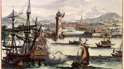 El puerto de La Habana según un grabado holandés del s. XVII