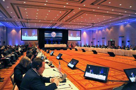 Imagen de la Reunión sobre el Tratado Antártico celebrada en Argentina en el año 2011.